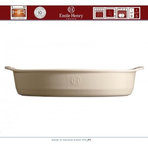 Les plats Емкость для запекания и подачи, 41 x 26 см, керамика, цвет кремовый, Emile Henry, арт. 88165, фото 5