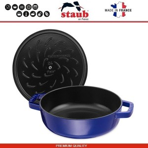 1112991 Сковорода-сотейник Mare чугунный для плиты и духовки, D 28 см, 4.6 литра, эмаль, Staub, Франция, арт. 112029, фото 3