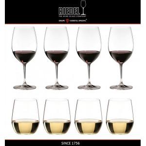 """Набор бокалов для красных и белых вин """"PAY 4 GET 8"""", 610 мл, 320 мл, машинная выдувка, VINUM, RIEDEL, арт. 15552, фото 2"""