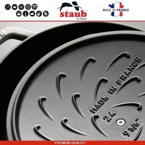 1112991 Сковорода-сотейник Mare чугунный для плиты и духовки, D 28 см, 4.6 литра, эмаль, Staub, Франция, арт. 112029, фото 7