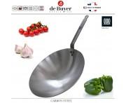 Профессиональный Вок Carbone Plus, D 35.5 см, карбоновая сталь, de Buyer, Франция
