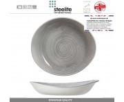 Блюдо-салатник Scape, D 24 см, 370 мл, фарфор, цвет туманно-серый глянец, Steelite, Великобритания