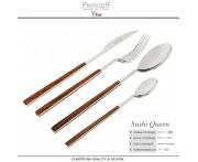 Набор столовых приборов Sushi Queen махагон, 24 предмета на 6 персон, Pintinox, Италия