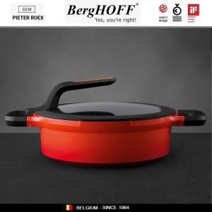 GEM Red Антипригарный сотейник для любых плит, 4.6 л, D 28 см, BergHOFF, арт. 92950, фото 5