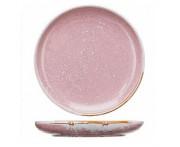 Peony обеденная тарелка, D 20 см, фарфор, розовый матовый, BK