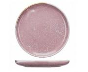 Peony обеденная тарелка, D 26 см, фарфор, розовый матовый, BK