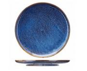 Iris Блюдо-тарелка, 29 см, фарфор, синий глянец, BK