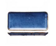 Iris Блюдо-тарелка, 21 х 12.5 см, фарфор, синий глянец, BK