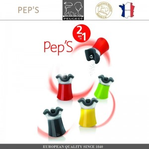 2 в 1 Мельница для перца - солонка PEP'S, H 8 см, салатовый, PEUGEOT, Франция, арт. 88174, фото 2