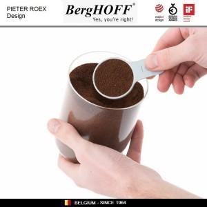 LEO Набор банок для хранения, 3 шт и мерная ложка, стекло, пластик, BergHOFF, арт. 89733, фото 3
