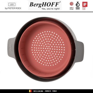 LEO Вставка-пароварка-дуршлаг, D 24 см, складной, силикон пищевой, BergHOFF, арт. 96789, фото 5