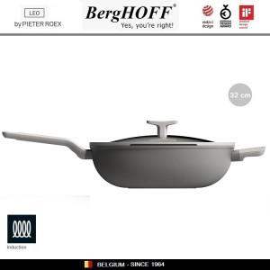 LEO Антипригарная сковорода-вок, 5.9 литра, D 32 см, индукционное дно, BergHOFF, арт. 96784, фото 4