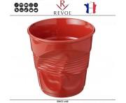 """Ведро """"Мятая керамика"""" Froisses для шампанского, 3 л, D 20 см, H 19,5 см, красный, REVOL, Франция"""