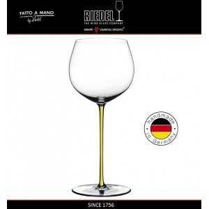 Бокал для белых вин Chardonnay, объем 620 мл, желтая ножка, ручная выдувка, FATTO A MANO, RIEDEL, арт. 87692, фото 5