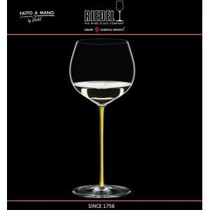 Бокал для белых вин Chardonnay, объем 620 мл, желтая ножка, ручная выдувка, FATTO A MANO, RIEDEL, арт. 87692, фото 3