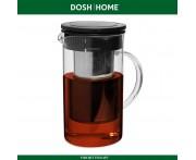 Заварочный кувшин GRUS с фильтром для чая и горячих напитков, 1 литр, термостойкое стекло, DOSH