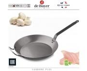 Профессиональная сковорода Carbone Plus, D 50 см, H 5.7 см, карбоновая сталь, de Buyer, Франция