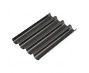 Форма для выпечки багетов, 4 ячейки, L 38 см, W 33 см, сталь нержавеющая, тефлон, Paderno, Италия