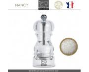 Мельница NANCY для соли, H 12 см, акрил прозрачный, PEUGEOT, Франция