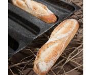 Форма для выпечки мини-багетов и сэндвичей, 12 ячеек, L 60 см, W 40 см, силикон, Paderno, Италия