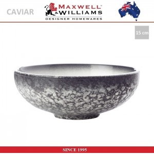 Миска Caviar цвет гранит, D 15.5 см, фарфор, Maxwell & Williams, арт. 92479, фото 1