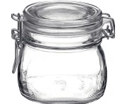 Банка для сыпучих продуктов «Fido», 550 мл, D 9,5 см, H 9 см,  стекло, Bormioli Rocco - Fidenza, Италия
