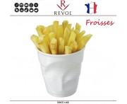 """Froisses """"Мятый керамический стаканчик"""" для закусок, 330 мл, белый, REVOL, Франция"""