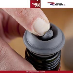Аксессуары для вина: вакуумный насос Concerto черный, 4 вакуумные пробки, Vacu Vin, Нидерланды, арт. 90045, фото 3