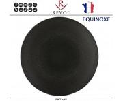 Блюдо-тарелка EQUINOXE, D 28 см, керамика ручной работы, черный, REVOL, Франция