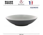 Глубокая тарелка EQUINOXE, D 24 см, 1000 мл, керамика ручной работы, серый, REVOL, Франция