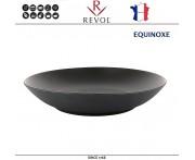Блюдо-салатник EQUINOXE, D 27 см, керамика ручной работы, черный, REVOL, Франция
