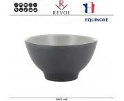 Глубокая миска EQUINOXE для риса, каши, D 12 см, керамика ручной работы, серый, REVOL, Франция