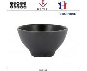 Глубокая миска EQUINOXE для риса, каши, D 12 см, керамика ручной работы, черный, REVOL, Франция