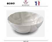 Большой салатник SUCCESSION, D 28 см, 3 литра, керамика ручной работы, белый, REVOL, Франция