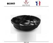 Малый салатник SUCCESSION, D 17 см, керамика ручной работы, черный, REVOL, Франция