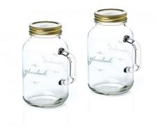 Набор банок с ручкой и крышкой, 2 шт, 500 мл, стекло, серия Canning, GlassLock, США - Корея