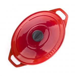 Жаровня чугунная, красная эмаль, 4.5 л, L 29 см, серия RUBIN, CHASSEUR, Франция, арт. 49026, фото 6