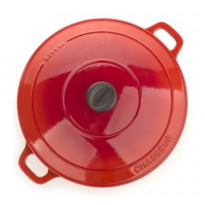 Кастрюля чугунная, красная эмаль, 6.4 л, D 28 см, серия RUBIN, CHASSEUR, Франция , арт. 49022, фото 5