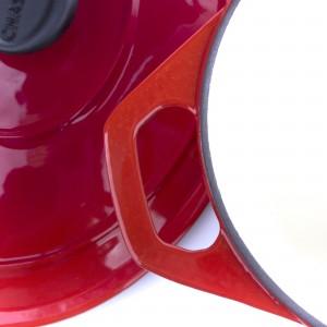 Кастрюля чугунная, красная эмаль, 6.4 л, D 28 см, серия RUBIN, CHASSEUR, Франция , арт. 49022, фото 6