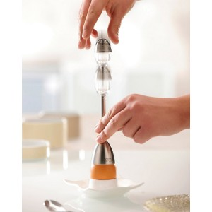Очиститель яичной скорлупы с солонкой, нержавеющая сталь, GEFU, Германия, арт. 49082, фото 2