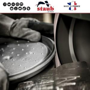 11022107 Кастрюля чугунная La Cocotte, 2.6 л, D 22 см, эмаль цвет белый трюфель, Staub, Франция, арт. 112006, фото 6