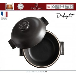 DELIGHT Кастрюля керамическая для духовки и любых плит, индукционное дно, 2.5 л, D 22 см, Emile Henry, арт. 91053, фото 4