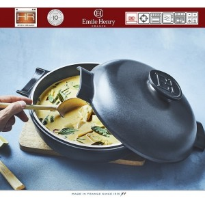 DELIGHT Кастрюля-сотейник керамическая для духовки и любых плит, индукционное дно, 2.5 л, D 26.5 см, Emile Henry, арт. 91055, фото 9