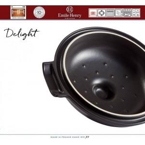 DELIGHT Кастрюля керамическая для духовки и любых плит, индукционное дно, 4 л, D 26.5 см, Emile Henry, арт. 91054, фото 5