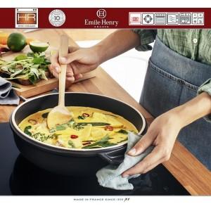 DELIGHT Кастрюля-сотейник керамическая для духовки и любых плит, индукционное дно, 2.5 л, D 26.5 см, Emile Henry, арт. 91055, фото 11