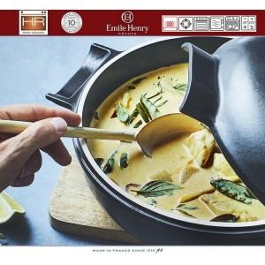 DELIGHT Кастрюля-сотейник керамическая для духовки и любых плит, индукционное дно, 2.5 л, D 26.5 см, Emile Henry, арт. 91055, фото 10