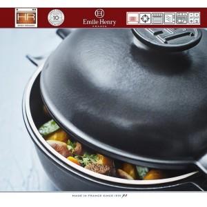 DELIGHT Кастрюля керамическая для духовки и любых плит, индукционное дно, 4 л, D 26.5 см, Emile Henry, арт. 91054, фото 9