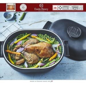 DELIGHT Кастрюля-жаровня керамическая для духовки и любых плит, индукционное дно, 4.5 л, L 36 см, Emile Henry, арт. 91056, фото 8