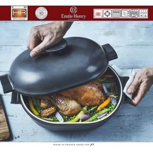 DELIGHT Кастрюля-жаровня керамическая для духовки и любых плит, индукционное дно, 4.5 л, L 36 см, Emile Henry, арт. 91056, фото 2