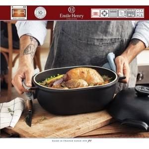 DELIGHT Кастрюля-жаровня керамическая для духовки и любых плит, индукционное дно, 4.5 л, L 36 см, Emile Henry, арт. 91056, фото 10